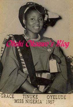 Grace Oyelude Grace TinukeOyelude The First Miss Nigeria