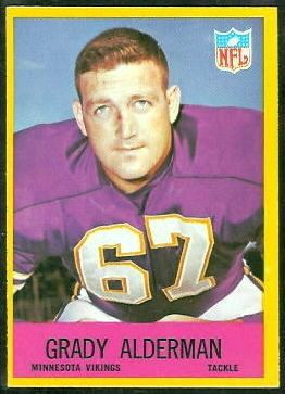 Grady Alderman wwwfootballcardgallerycom1967Philadelphia98G