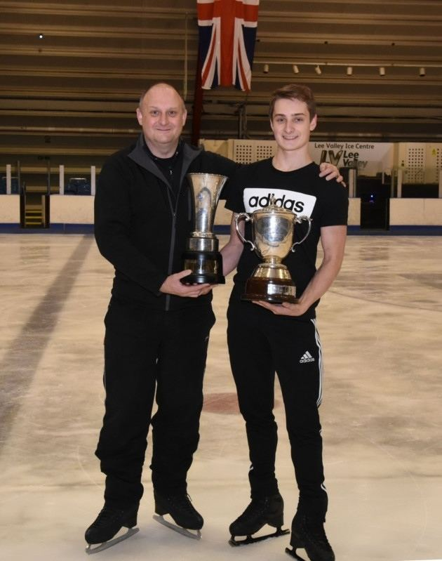 Graham Newberry Collier Row father and son share ice skating passion and top