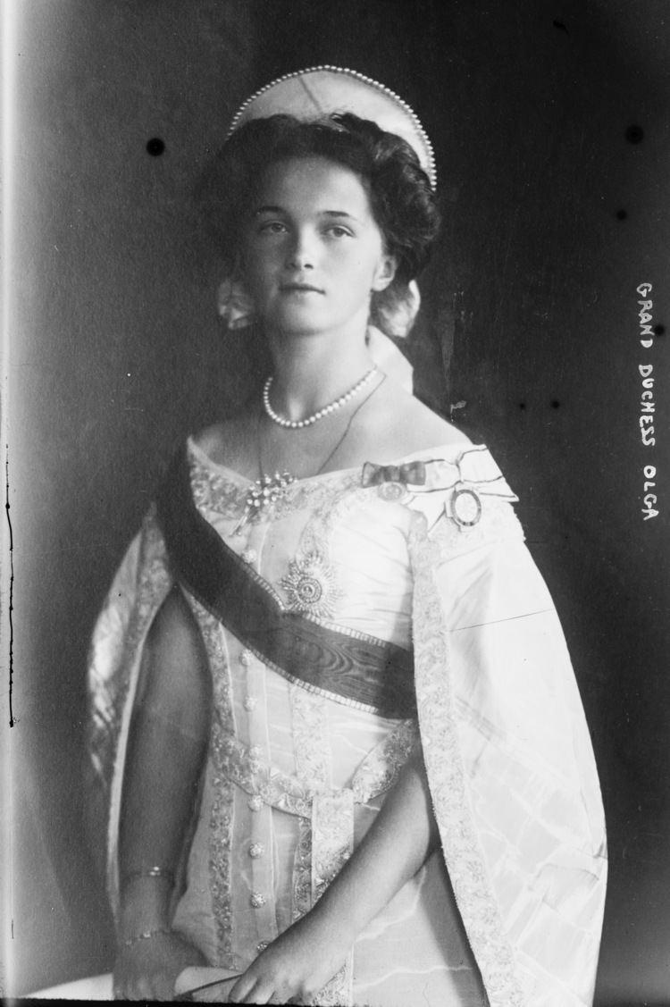 Grand Duchess Olga Nikolaevna of Russia FileGrand Duchess Olga in court dress 19102jpg