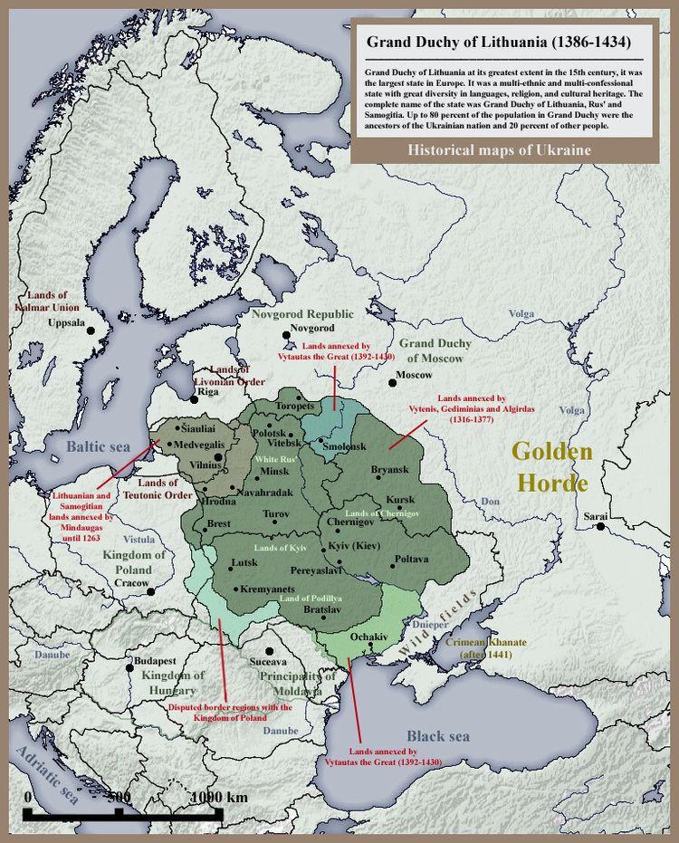 Grand Duchy of Lithuania FileGrand Duchy of Lithuania Rus and Samogitia 1434jpg Wikimedia