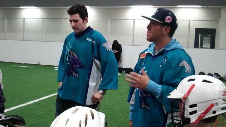 Grant Catalino Knighthawks Grant Catalino and Joe Walters with Hurricanes