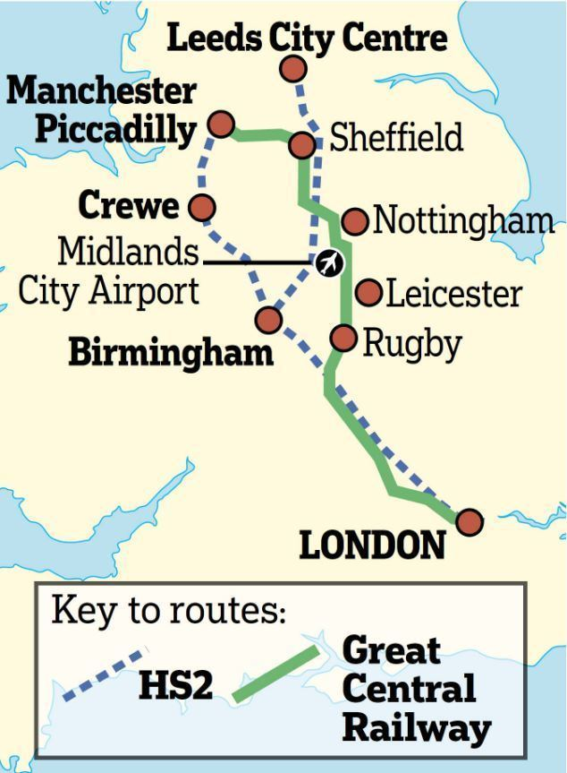 Great Central Main Line Railway line shut by Beeching 39can save us 36bn39 Critics put