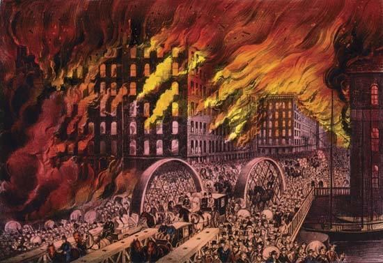 Great Chicago Fire Chicago fire of 1871 American history Britannicacom