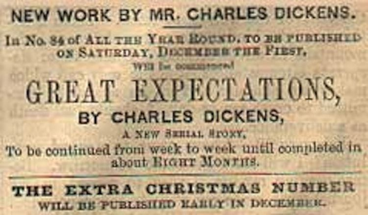 Great Expectations: The Untold Story movie scenes Advertisement for Great Expectations in All the Year Round