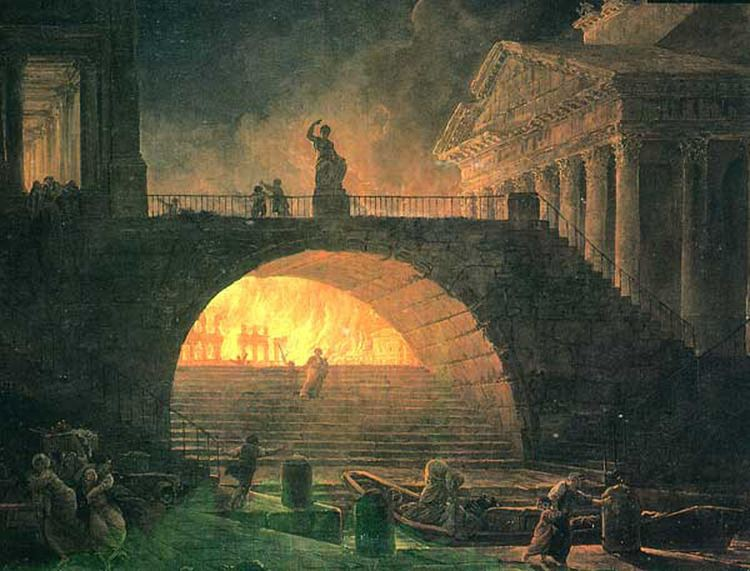 Great Fire of Rome Historical Wallpapers Great Fire of Rome Magnum incendium Romae