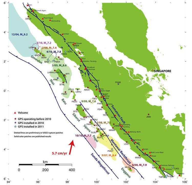 Great Sumatran fault Sumatran Fault Monitoring SuMo Campaign GPS project Earth