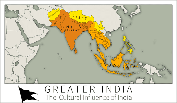 Greater India DeviantArt More Like Greater India A Map of Indian Cultural