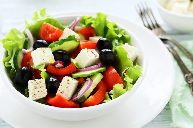 Greek salad Healthiest Greek Salad Skinny Ms