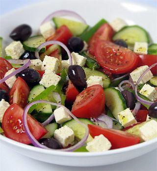 Greek salad Greek salad recipe MediterrAsiancom