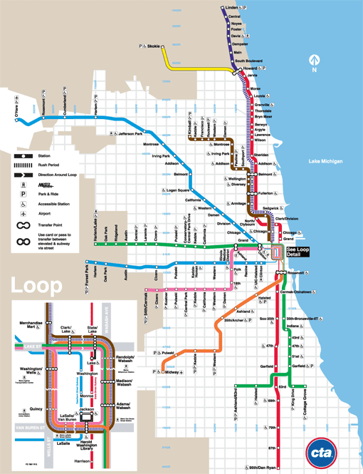 Green Line Cta Stops Route Map Stations More Details