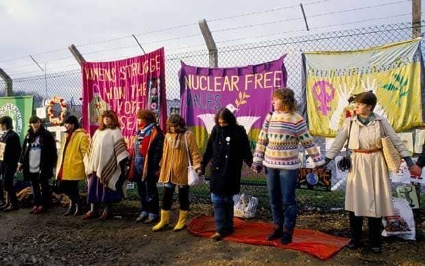 Greenham Common Women's Peace Camp Thatcher said Greenham Common antinuclear protesters were an