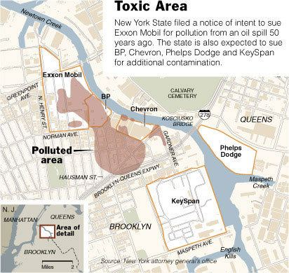 Greenpoint oil spill The Gowanus Lounge State Finally Sues Exxon Over Greenpoint Oil Spill