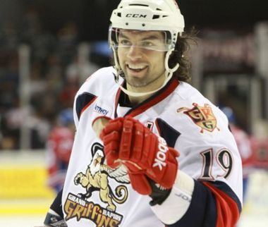 Greg Amadio Griffins defenseman Greg Amadio contributes in community as well as
