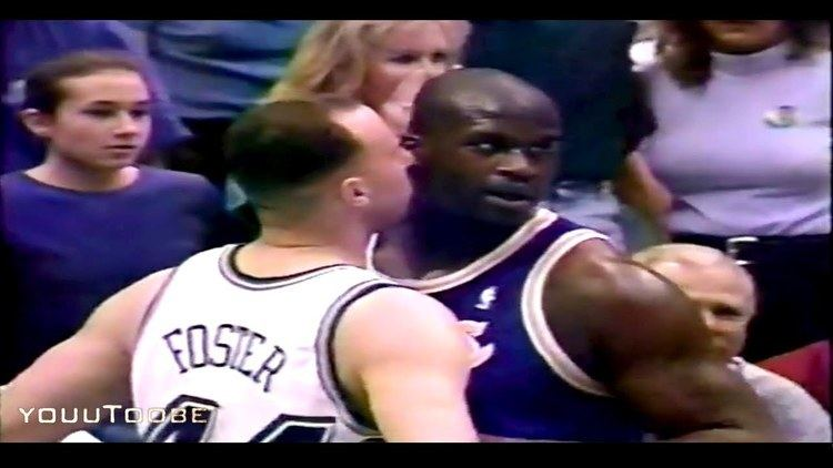 Greg Foster (basketball) Shaquille ONEAL vs Greg FOSTER 98 Playoffs Game 1 YouTube