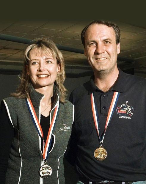 Greg McAulay Kelley Law and Greg McAulay are womens and mens world curling
