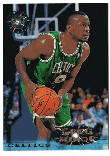 Greg Minor BOSTON CELTICS Greg Minor 225 Topps Stadium Club 1996 NBA Trading Card