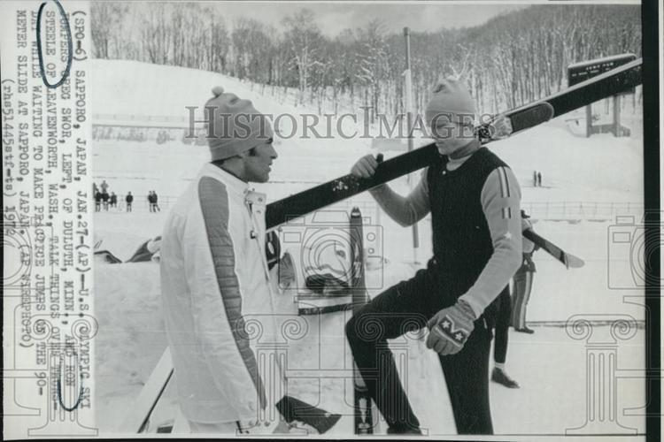 Greg Swor 1972 Press Photo Greg Swor and Ron Steele Ski Jumpers Historic Images