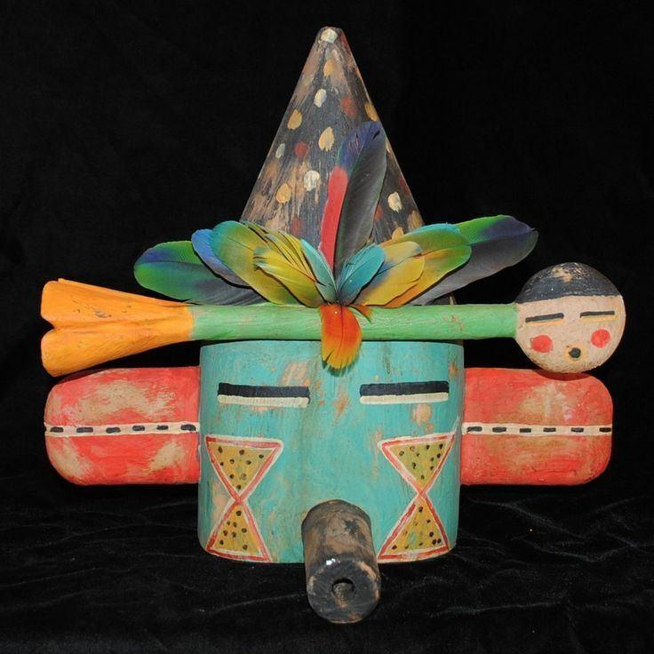 Gregory Lomayesva Gregory Lomayesva Hopi Folk Art HandCarved Wood amp Mixed