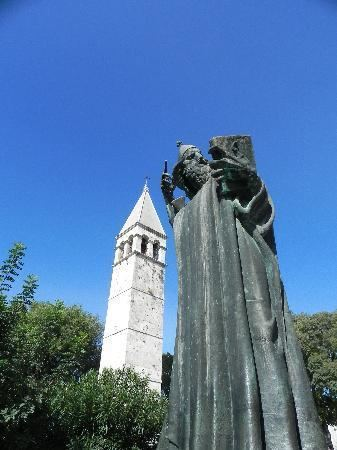 Gregory of Nin Split Gregory of Nin statue and bell tower behind it