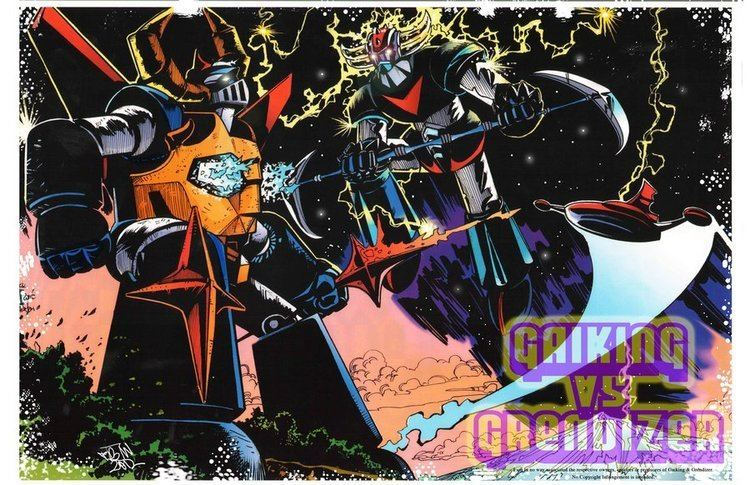 Grendizer movie scenes Gaiking vs Grendizer by fbwash