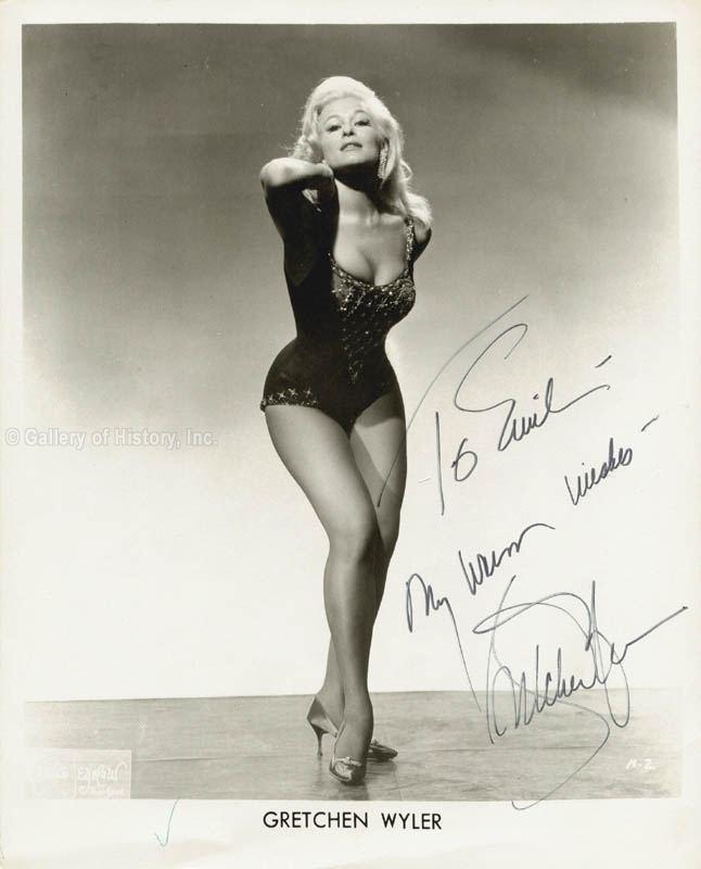 Gretchen Wyler HistoryForSale Autographs and Manuscripts Gretchen