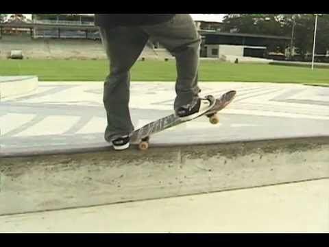 Grind (skateboarding) Skateboard Trick Tip 50 Grind How to Frontside amp Backside 50