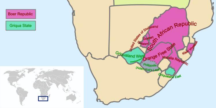Griqualand West Griqua people Wikipedia