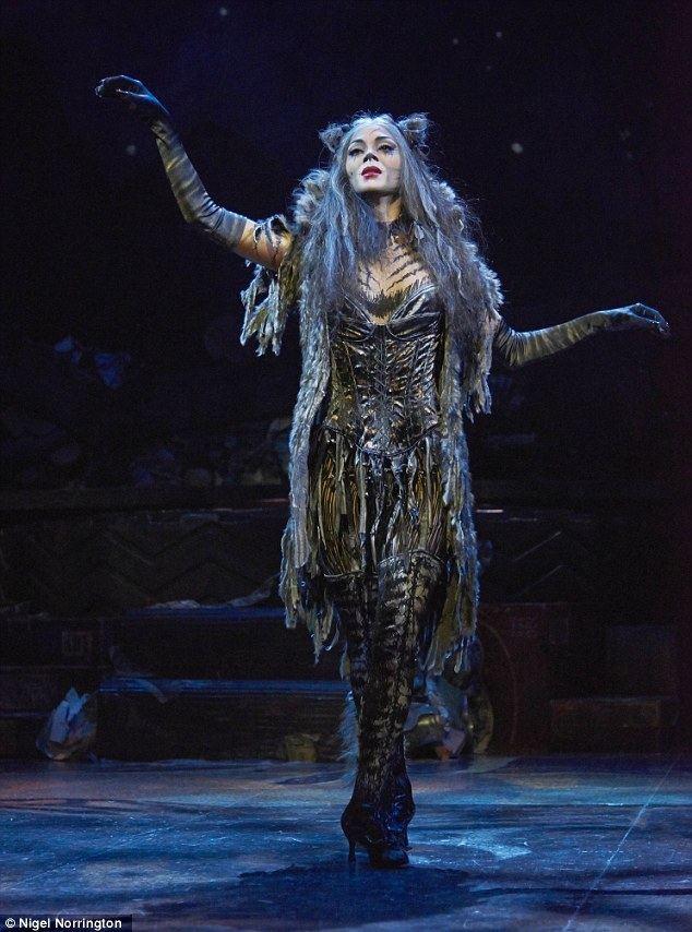 Grizabella Nicole Scherzinger and Lewis Hamilton leave theatre hand in hand
