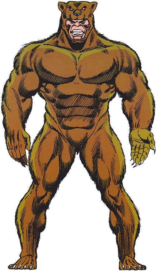Grizzly (comics) Grizzly Marvel Comics Spiderman enemy Character profile