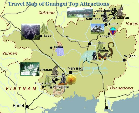 Guangxi Tourist places in Guangxi