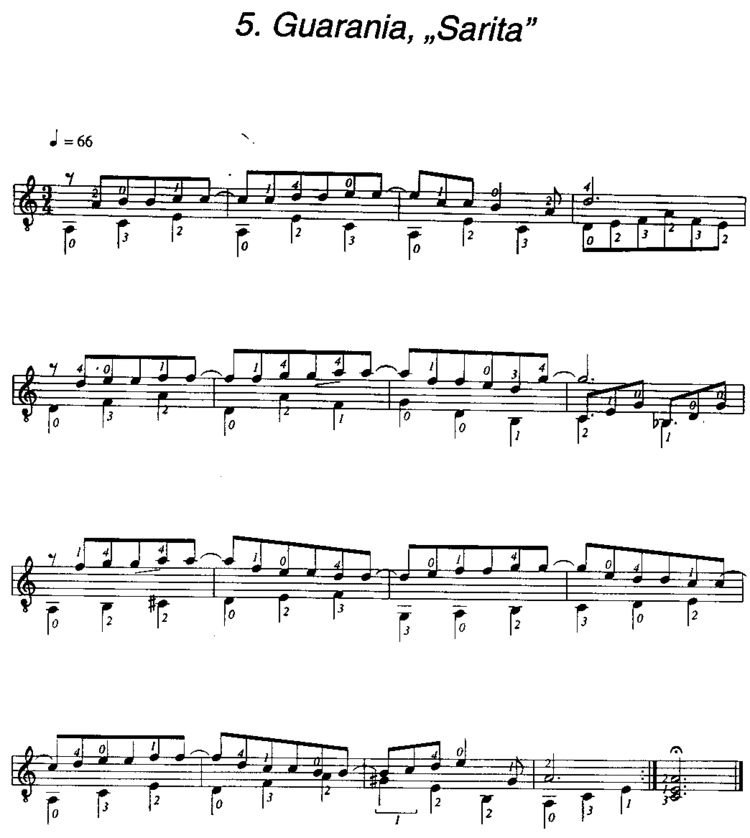 Guarania (music) Jorge Cardoso guitar notes 0005 Guarania Sarita