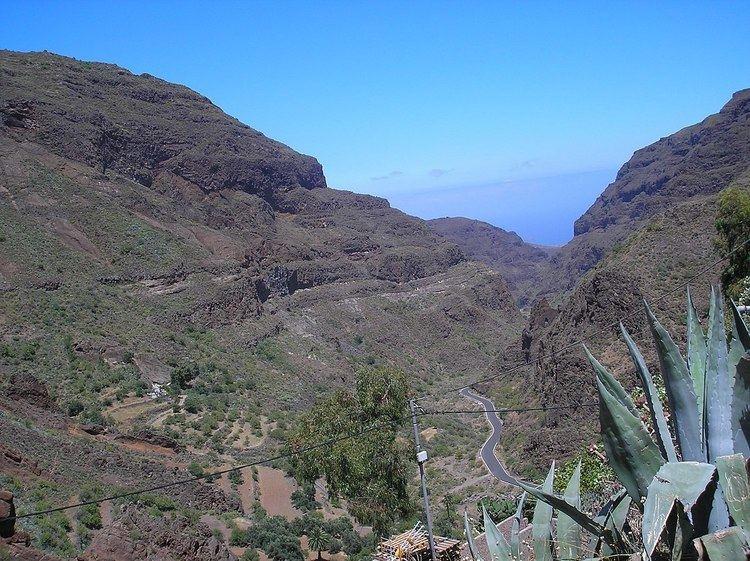 Guayadeque ravine