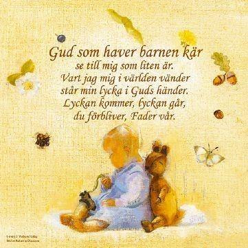 Gud, som haver barnen kär Andaktstavla Gud som haver barnen kr kvadratisk Barn amp Tro