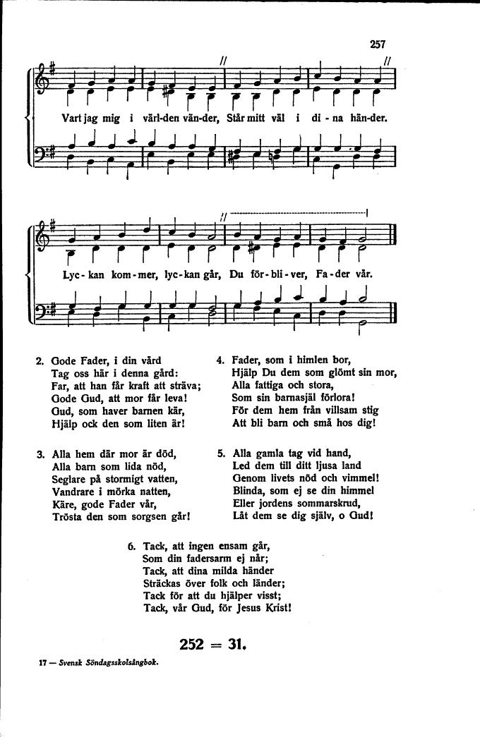 Gud, som haver barnen kär 257 Svensk sndagsskolsngbok fr hem skolor och barngudstjnster