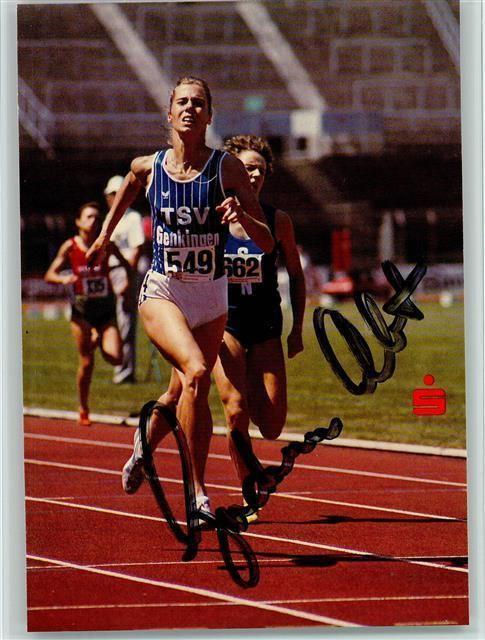 Gudrun Abt Leichtathletik Gudrun Abt beim Laufen keine AK Autogramm