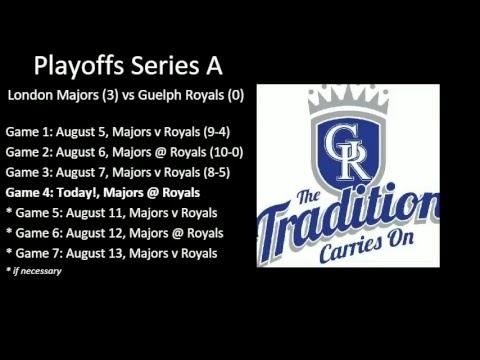 Guelph Royals (baseball) London Majors Guelph Royals Playoff Game 4 August 9 2016 YouTube
