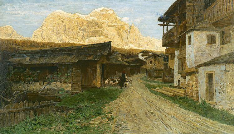 Guglielmo Ciardi Art of the Day Guglielmo Ciardi Conca di Sappada con le