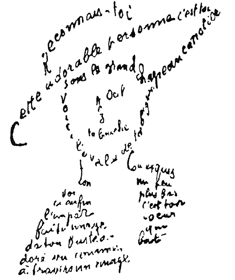 Guillaume Apollinaire Calligrammes Poems of Peace and War by Guillaume Apollinaire