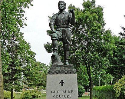 Guillaume Couture La statue d39un hros lvisien authentique sur la terrasse