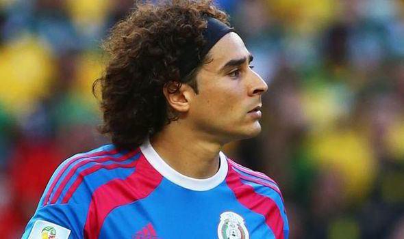 Guillermo Ochoa Liverpool and Arsenal chase Mexico hotshot Guillermo Ochoa