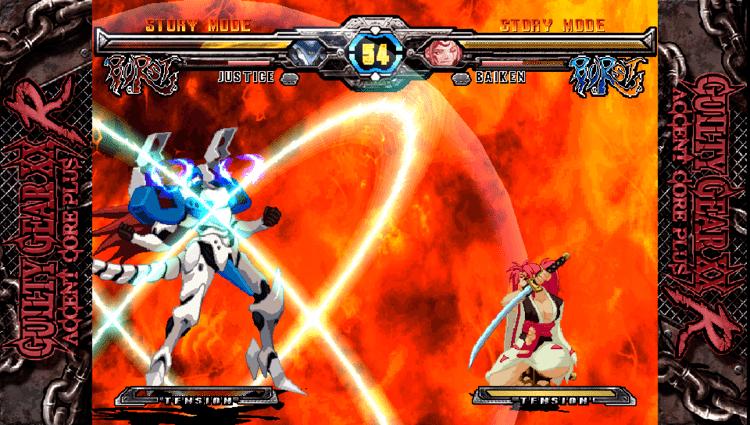 Guilty Gear X2 updated versions Fastpaced fighting action Guilty Gear XX Accent Core Plus Review