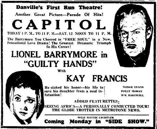 Guilty Hands Guilty Hands 1931