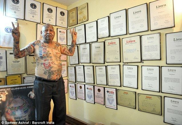 Guinness Rishi Guinness Rishi holds record for most flag tattoos but wife Bimla is