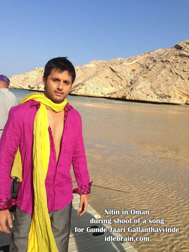 Gunde Jaari Gallanthayyinde Nitins Gunde Jaari Gallanthayyinde song shoot in Oman Telugu