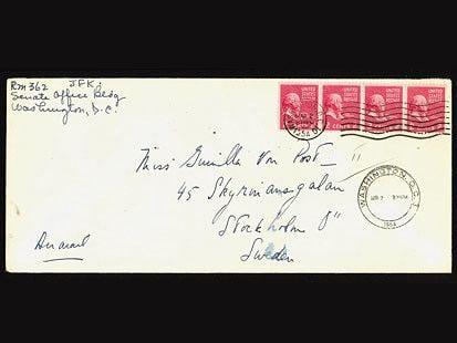 Gunilla von Post John F Kennedy Secret Love Letters to Gunilla von Post