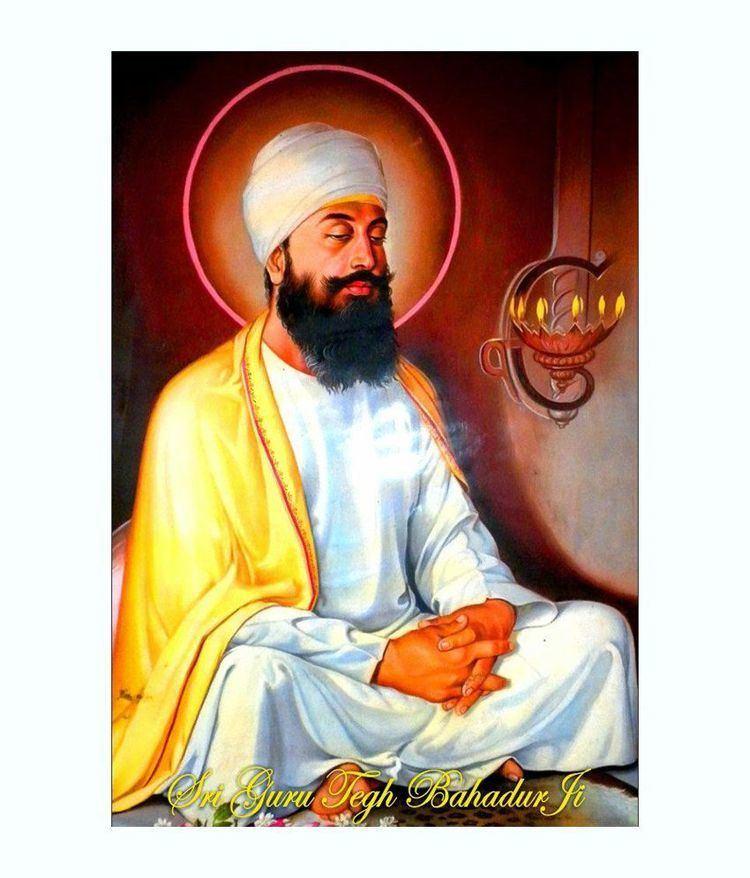 Guru Tegh Bahadur Printinggali Multicolour Sri Guru Tegh Bahadur Ji Poster