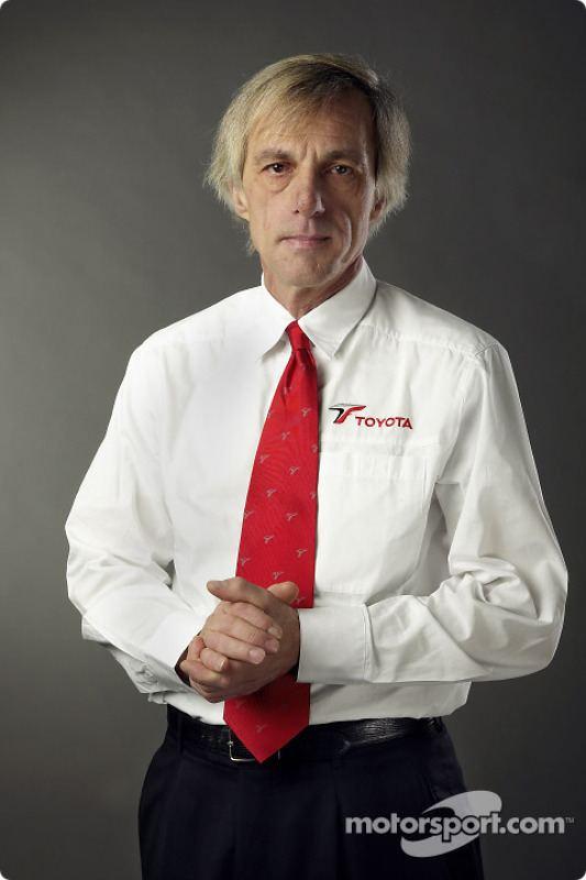 Gustav Brunner Gustav Brunner Chief Designer at Toyota TF104 launch