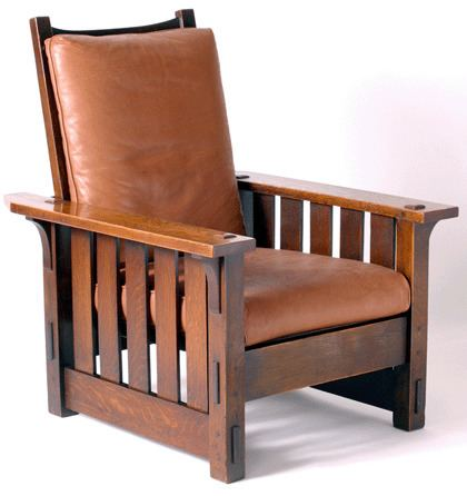 Gustav Stickley Morris Chair by Gustav Stickley 1902 The Craftsman style was a