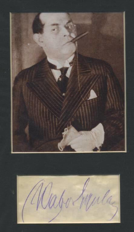 Gyula Kabos Kabos Gyula 18871941 alrsa Magyarorszgi Autogramgyjtk Klubja